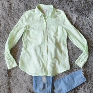 Old Navy Striped Button Down Shirt